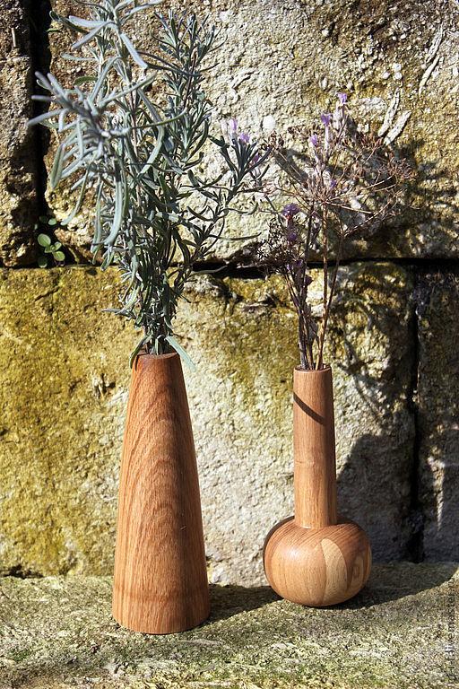 Вазы ручной работы. Ярмарка Мастеров - ручная работа. Купить Деревянные вазы для маленьких букетиков цветов.. Handmade. Ваза, флакон