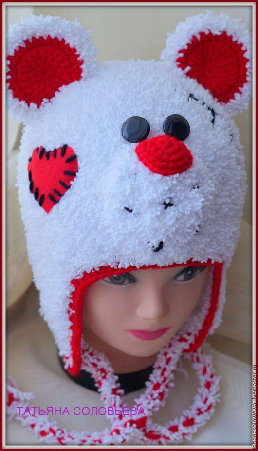 """Одежда унисекс ручной работы. Ярмарка Мастеров - ручная работа. Купить Шапочка """" МИШУТКА"""".. Handmade. Комбинированный, детская шапочка"""