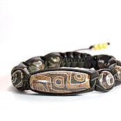 Фен-шуй и эзотерика handmade. Livemaster - original item Shamballa bracelet eye of the Buddha from the skin 4. Handmade.