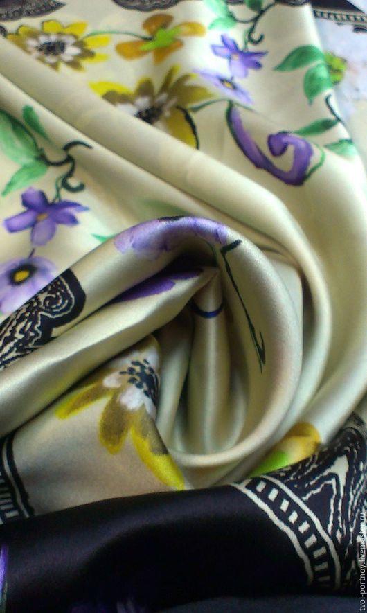 Шитье ручной работы. Ярмарка Мастеров - ручная работа. Купить Ткань шёлк атлас. Handmade. Комбинированный, брендовые ткани