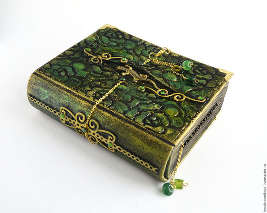 """Блокноты ручной работы. Ярмарка Мастеров - ручная работа. Купить Блокнот """"Малахитовый"""". Handmade. Тёмно-зелёный, блокнот для записей"""