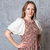Одежда handmade. Livemaster - original item Dress for nursing moms (Ivanovo calico). Handmade.
