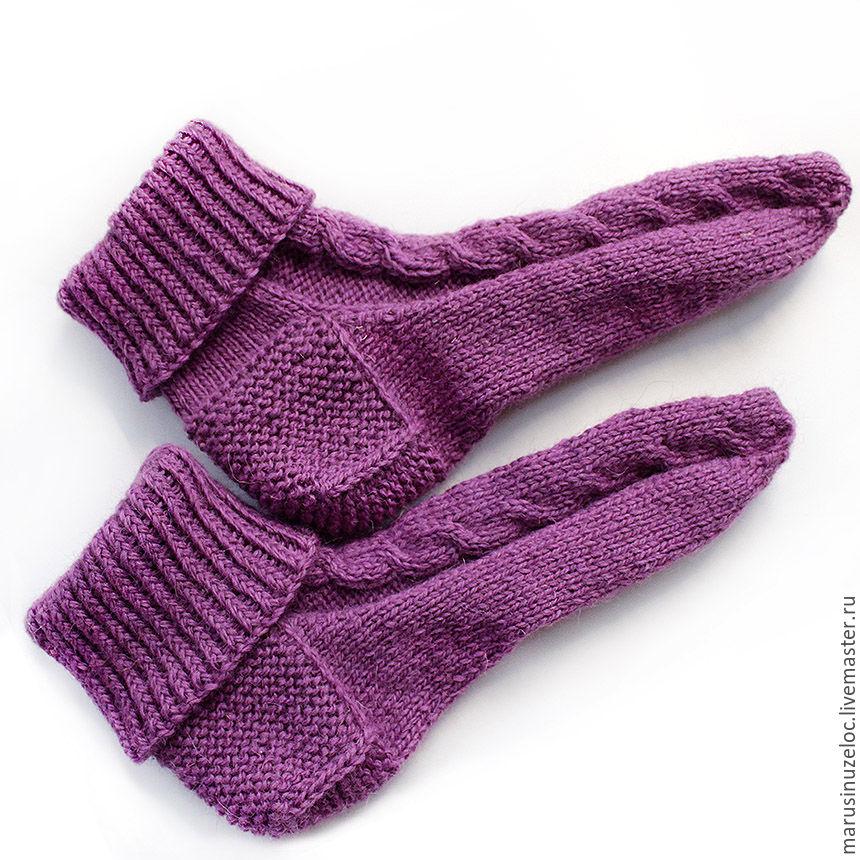вязаные носки ручной работы носки вязаные носки детские сиреневый