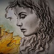 Картины и панно ручной работы. Ярмарка Мастеров - ручная работа Осенняя печаль. Handmade.
