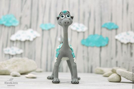 Игрушки животные, ручной работы. Ярмарка Мастеров - ручная работа. Купить Дракозавр туманного утра (дракон, дракончик, динозавр игрушка). Handmade.
