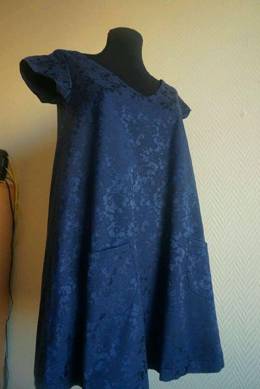 Платья ручной работы. Ярмарка Мастеров - ручная работа. Купить Маленькое синее платье. Handmade. Платье, платье модное, хлопок