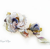 Свадебный салон handmade. Livemaster - original item For the hair, the Sprig of Lilac roses. Handmade.