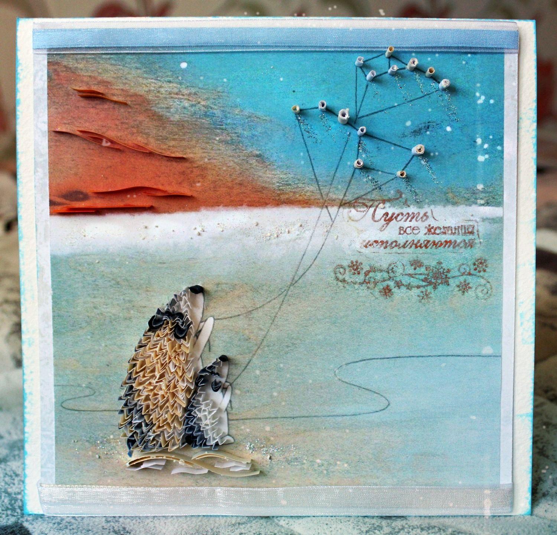 Открытка ручной работы в технике квиллинг  от Ковтун Дарьи, Открытки, Ачинск,  Фото №1