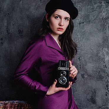 Одежда ручной работы. Ярмарка Мастеров - ручная работа Платья: из брусничной шерсти. Handmade.