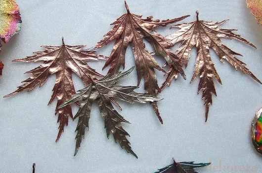 Кулоны, подвески ручной работы. Ярмарка Мастеров - ручная работа. Купить Листья клена, лист тополя. Handmade. Лист клена