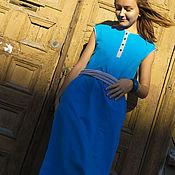 Одежда ручной работы. Ярмарка Мастеров - ручная работа Платье Бирюзовое. Handmade.
