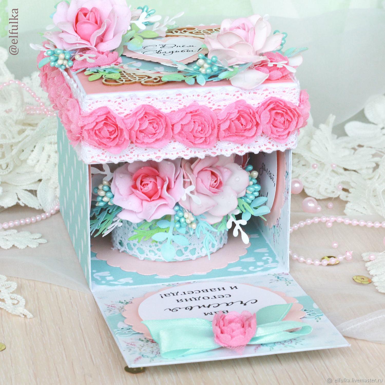 Коробка открытка на свадьбу 13