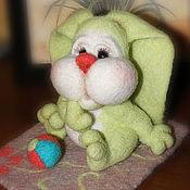 Куклы и игрушки ручной работы. Ярмарка Мастеров - ручная работа Игрушка из шерсти. Зайка. Handmade.