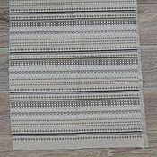 Материалы для творчества ручной работы. Ярмарка Мастеров - ручная работа ткань лен хлопок полоски серые. Handmade.
