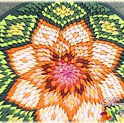 Для дома и интерьера ручной работы. Ярмарка Мастеров - ручная работа Круглые коврики из лоскутов в ассортименте. Handmade.