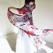 Одежда ручной работы. Ярмарка Мастеров - ручная работа Костюм Красные цветы+подъюбник Мари. Handmade.