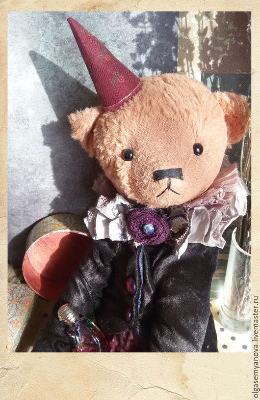 Мишки Тедди ручной работы. Ярмарка Мастеров - ручная работа. Купить Тадеуш. Handmade. Разноцветный, Плюшевый мишка, бархат
