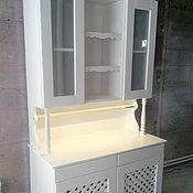 Для дома и интерьера handmade. Livemaster - original item Buffet Cabinet from solid cedar in the style of Provence White frost. Handmade.