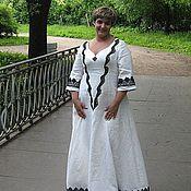 Одежда ручной работы. Ярмарка Мастеров - ручная работа Свадебное платье из льна. Handmade.