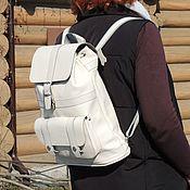Сумки и аксессуары handmade. Livemaster - original item Backpack leather female beige Lada Mod R11-151. Handmade.