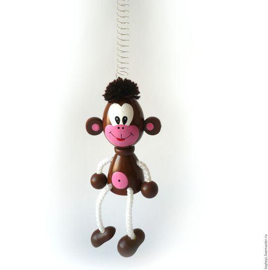 """Персональные подарки ручной работы. Ярмарка Мастеров - ручная работа. Купить """"Обезьяна"""" символ 2016 года игрушка на пружинке. Handmade."""