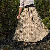 Одежда handmade. Livemaster - original item Lace Maxi skirt in boho style. Provence. Handmade.