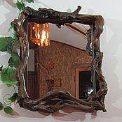 Для дома и интерьера handmade. Livemaster - original item mirror, mirror in wooden frame. Handmade.