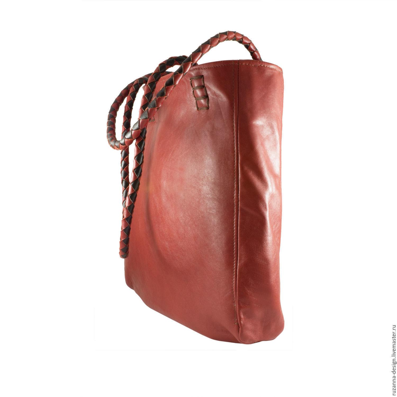 1a27c5e9295e Женские сумки ручной работы. Ярмарка Мастеров - ручная работа. Купить  Большая рыже-коричневая ...