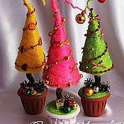 Подарки к праздникам ручной работы. Ярмарка Мастеров - ручная работа Сизалевые елочки. Handmade.