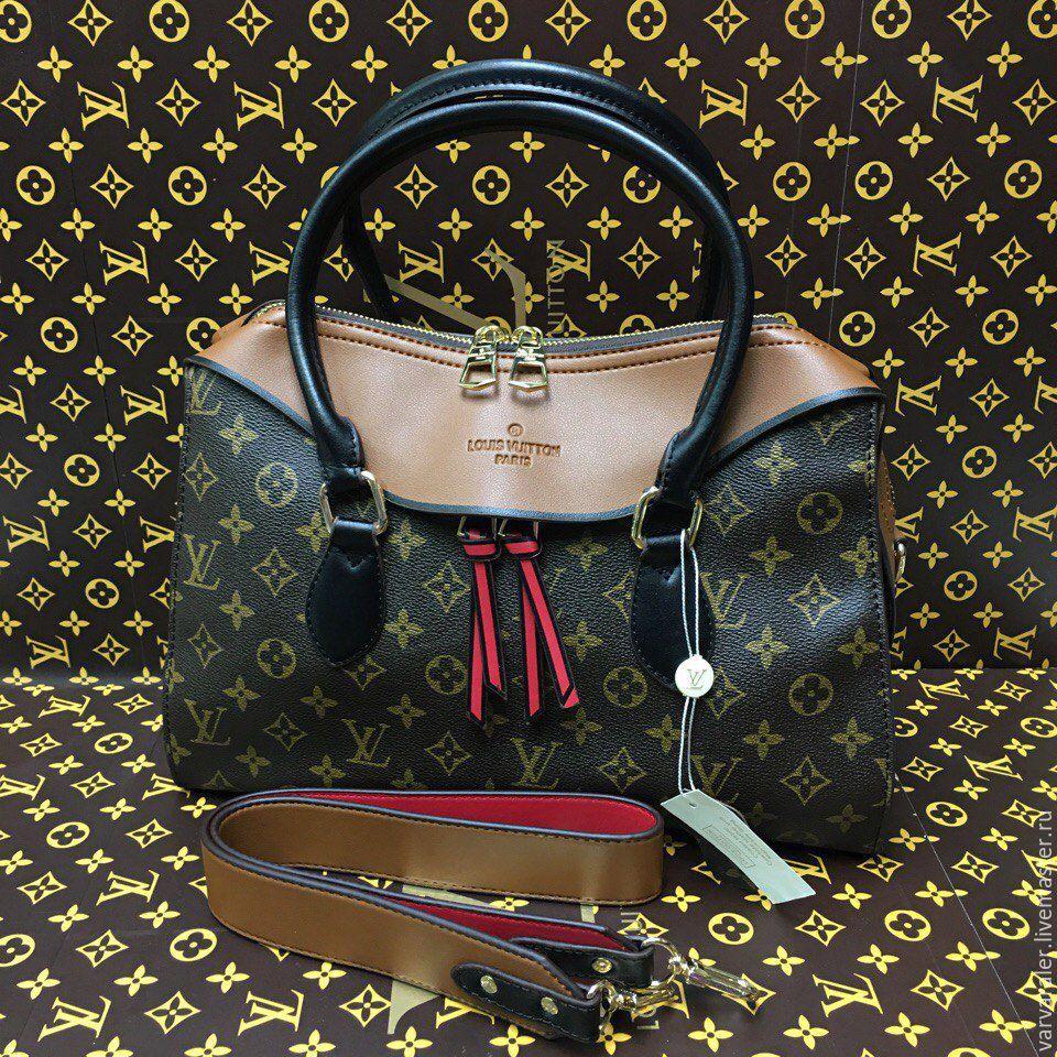 Новая модель сумка louis vuitton с шелковой лентой