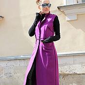 Одежда ручной работы. Ярмарка Мастеров - ручная работа Пальто без рукавов Purple. Handmade.