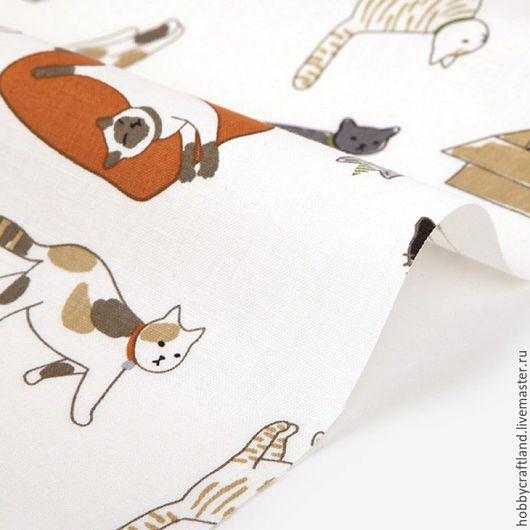 Материалы для творчества. Шитье. Ткань. Хлопок 100% корейский Dailylike. Хлопок для шитья, пэчворка, скрапбукинга, рукоделия. Handmade Купить корейский хлопок. Котики