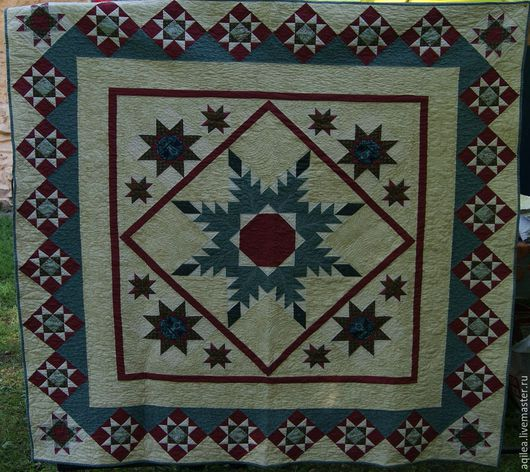 """Текстиль, ковры ручной работы. Ярмарка Мастеров - ручная работа. Купить Покрывало """"Звездное"""". Handmade. Плед, покрывало пэчворк"""