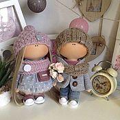 Тыквоголовка ручной работы. Ярмарка Мастеров - ручная работа Влюбленные куклы 22 см  3000. Handmade.