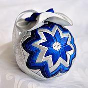 Подарки к праздникам ручной работы. Ярмарка Мастеров - ручная работа Елочный шар в технике  артишок. Handmade.