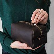 Сумки и аксессуары handmade. Livemaster - original item Cosmetic bag leather (cosmetic bag made of genuine leather). Handmade.