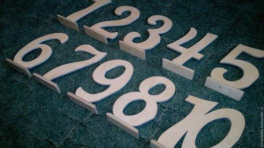 Свадебные аксессуары ручной работы. Ярмарка Мастеров - ручная работа. Купить Цифры на столы. Handmade. Бежевый, цифры из фетра