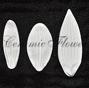 Материалы для творчества handmade. Livemaster - original item Texture for Lily 2 petals and leaf. Handmade.