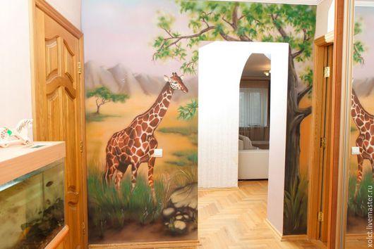 Детская ручной работы. Ярмарка Мастеров - ручная работа. Купить Жираф. Handmade. Разноцветный, жираф, стены