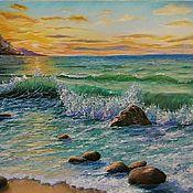 """Картины и панно ручной работы. Ярмарка Мастеров - ручная работа Картина маслом""""Хочу на море"""",пейзаж. Handmade."""