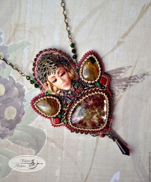 """Кулоны, подвески ручной работы. Ярмарка Мастеров - ручная работа. Купить кулон из бисера """"Осенняя Княгиня"""" (скульптурная миниатюра). Handmade."""