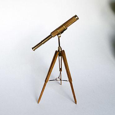 Куклы и игрушки ручной работы. Ярмарка Мастеров - ручная работа Телескоп на треноге 1:12. Handmade.