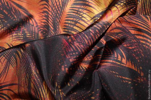 """Шитье ручной работы. Ярмарка Мастеров - ручная работа. Купить Шелк MaxMara """"Закат на Ибице"""". Handmade. Крепдешин, итальянские ткани"""