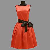 Одежда ручной работы. Ярмарка Мастеров - ручная работа Роскошное вечернее платье модель 12-90 из высококачественного сатина.. Handmade.