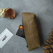 Сумки и аксессуары handmade. Livemaster - original item Cosmetic bag-glasses case olive. Handmade.