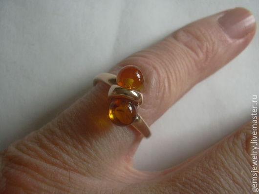 """Кольца ручной работы. Ярмарка Мастеров - ручная работа. Купить Кольцо """"КОСТЕНИКА""""  , ЯНТАРЬ,серебро 925,позолота.. Handmade. Оранжевый"""