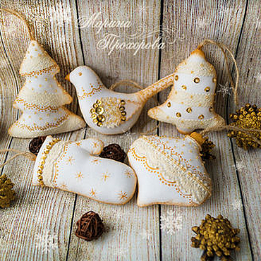 Куклы и игрушки ручной работы. Ярмарка Мастеров - ручная работа Набор текстильных игрушек на ёлку. Handmade.