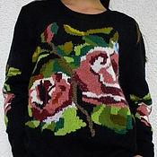 """Одежда ручной работы. Ярмарка Мастеров - ручная работа Джемпер с вышивкой """"Розы по мотивам известного бренда"""". Handmade."""