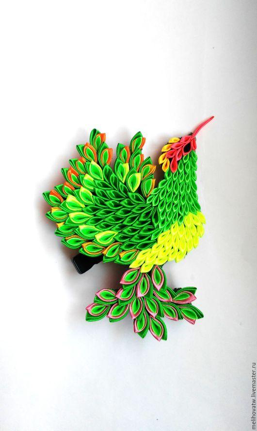 Текстиль, ковры ручной работы. Ярмарка Мастеров - ручная работа. Купить Экзотическая птичка Колибри зеленая. Handmade. Комбинированный