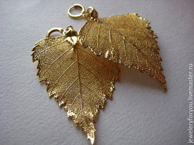 Серьги ручной работы. Ярмарка Мастеров - ручная работа. Купить Серьги  Золотые листья. df740c9741a